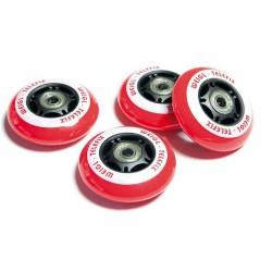 Racer Wheels (Ersatzräder) Schwarz / Rot